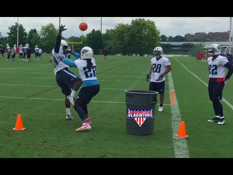 Titans Derrick Henry does American Gladiator drill
