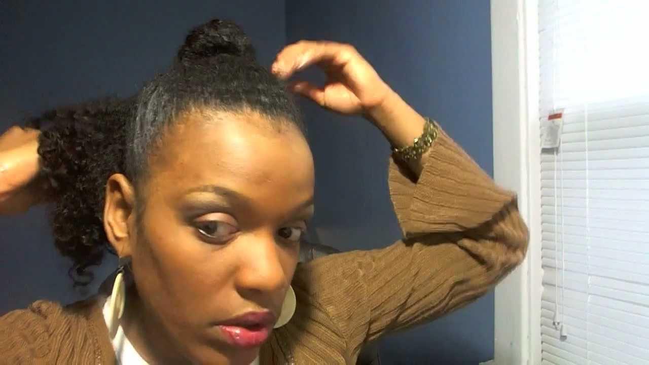 natural hairstyles ponytail bun