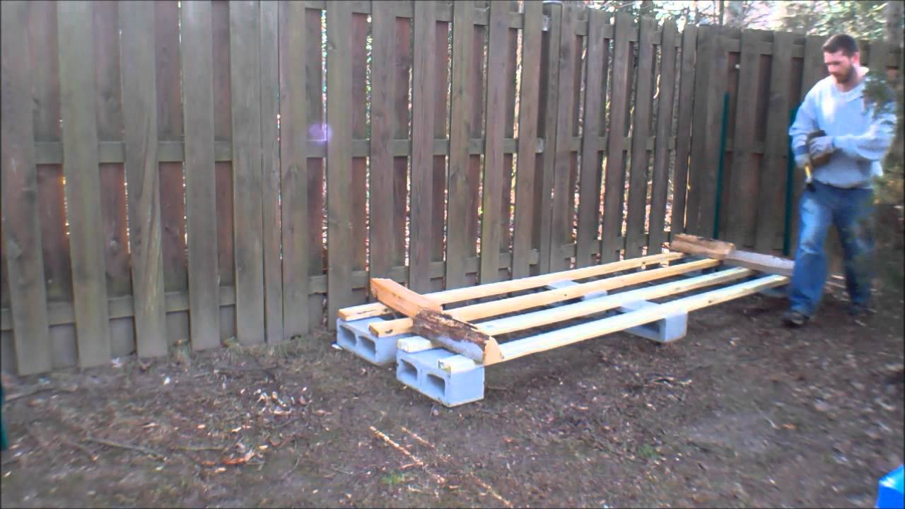 Log rack build youtube for Best wood for building a house