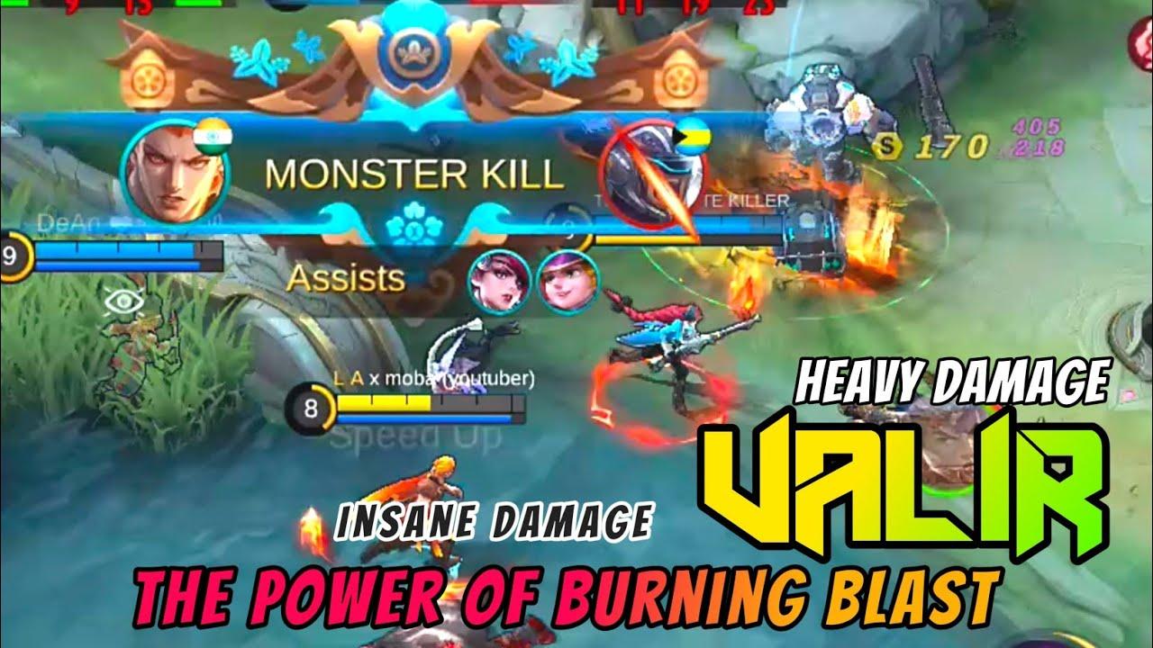 Valir The Insane Damage Of Burning Blast   Valir Best Build & Gameplay   Mobile Legends