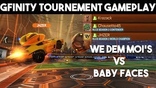 Jhzer, Chausette and Krazack vs Baby Faces | Rocket League Gfinity Tournement