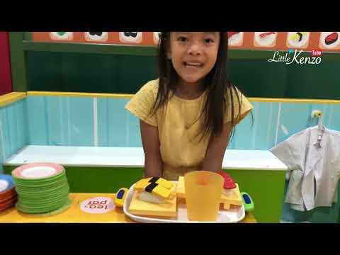 Little Kenzo Main Jual Jualan Bersama Kakak Zara Dan Adik Bayi Sakura | Pretend Play