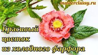 Украшение своими руками. Как сделать красивый цветок из холодного фарфора. Видео урок
