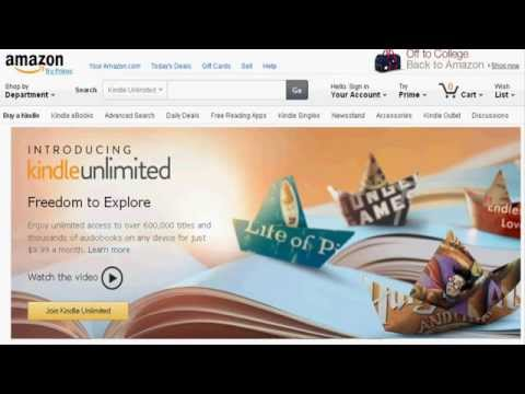 Amazon Launches 'Kindle Unlimited', A Subscription Service For EBooks.