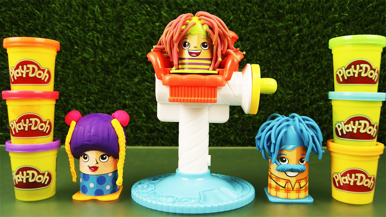 Play Doh Crazy Cuts Barber Set With 3 Characters And 6 Colors