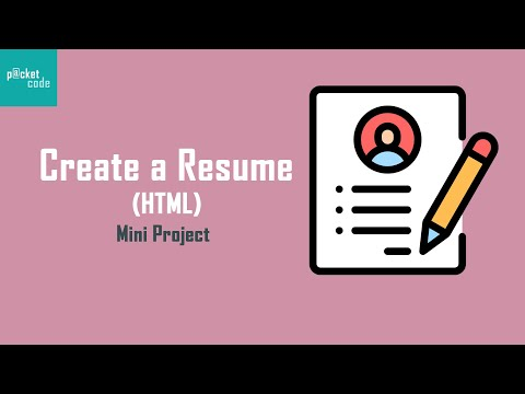 How To Create A Resume || HTML And CSS Mini Project (Part-1)