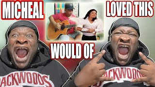 AMERICAN RAPPER REACTS   TO BLACK OR WHITE (Fingerstyle cover) ALIF BA TA LUARBIASA (REACTION)