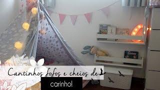 DIY quartinho de bebe menina: decoração gastando pouco