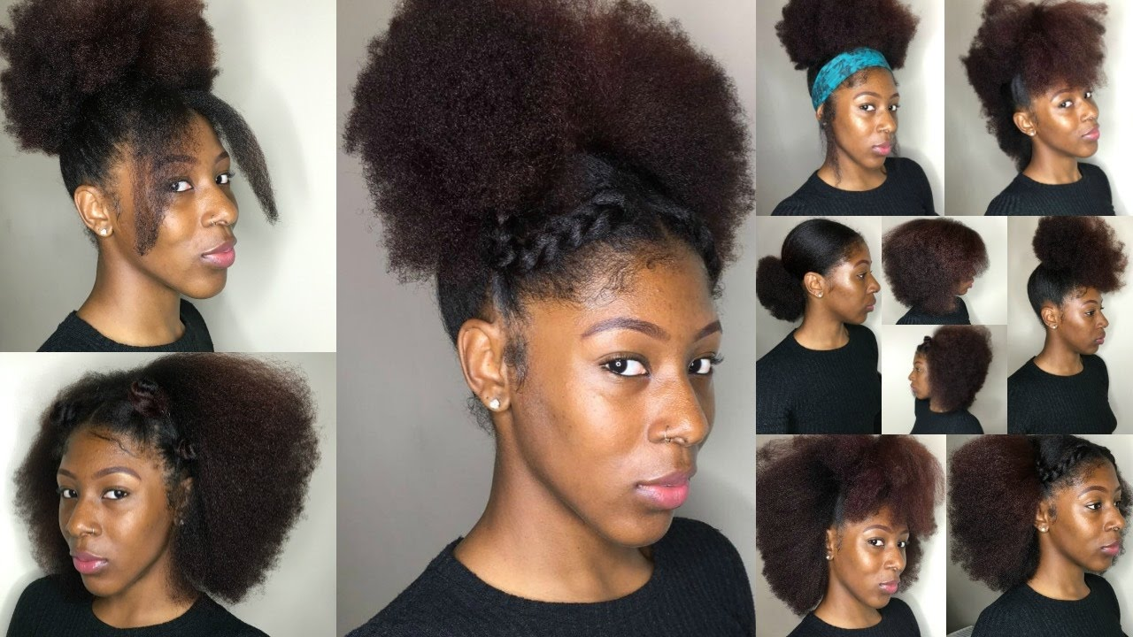 16 Natural Hairstyles Short Medium Hair Youtube