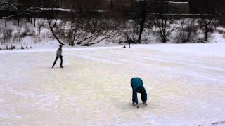 Figure Skating lesson 1 / Урок фигурного катания 1 (Троицк, Россия)