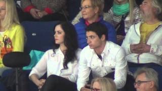 Finlandia Trophy 2013 Tessa VIRTUE / Scott MOIR watchining Yuzuru HANYU FS 00547