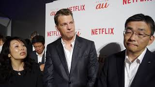 Netflixのグレッグ・ピーターズ氏とKDDI高橋新社長囲み取材 2018夏
