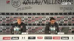 Die PK mit Jos Luhukay & Jens Keller | FC St. Pauli - 1. FC Nürnberg 1:0
