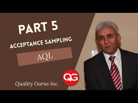 ASQ CQE - Acceptance Sampling - Part 5 - AQL