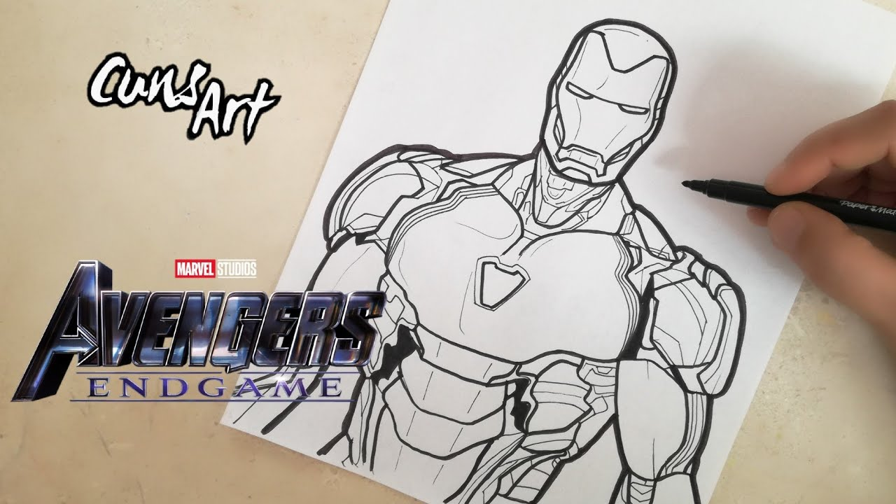 Como Dibujar A Ironman Avengers Endgame How To Draw Ironman