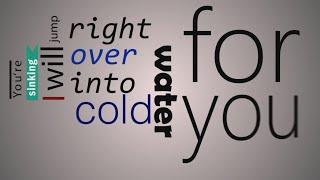 Major Lazer - Cold Water (feat. Justin Bieber & MØ) (Lyrics Video) (Kinetic Typography)