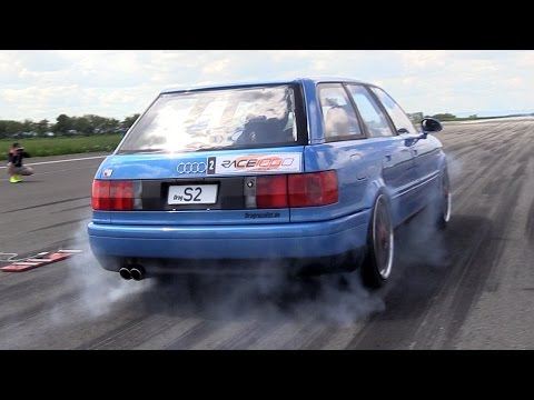 [SLEEPER!] 800HP Audi S2 Avant FROM HELL!! Insane QUATTRO Burnouts!