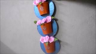 Waste CD craft ideas | Make wall hanging  at home   |  Sudha Balaji