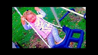 Standing On A Swing!!! | Day 1951 - Thefunnyrats Family Vlog