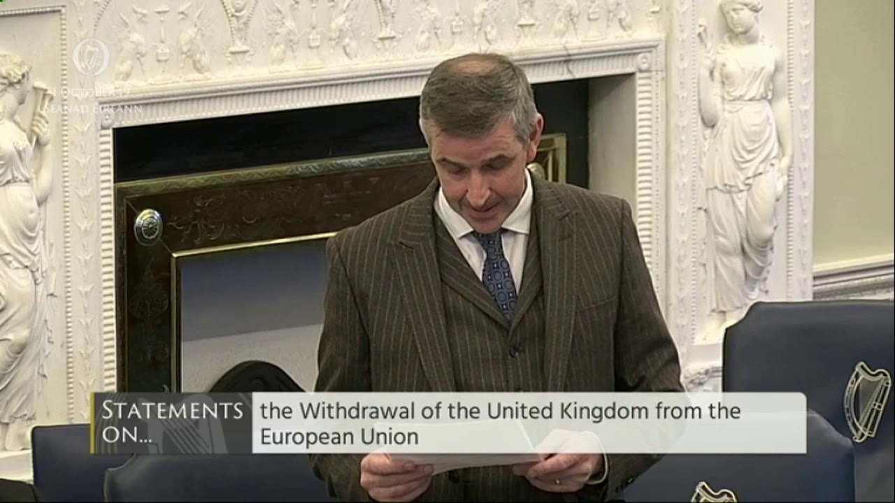 Senator Ian Marshall | Seanad Order of Business 1 October 2019 | Withdrawal of UK from EU