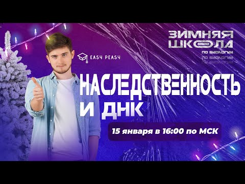 ДНК и наследственность | Илья Кац | Онлайн-школа EASY PEASY | ОГЭ биология
