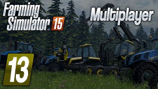 Zagrajmy w Farming  Simulator 2015 na multiplayer #13 - Sporo pracy. /Wujek Bohun