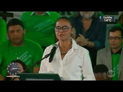 Marina Silva vai concorrer à presidência pela terceira vez | SBT Brasil (04/08/18)
