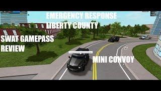 SWAT GAMEPASS REVIEW | MINI CONVOY | Emergency Response Liberty County | Roblox