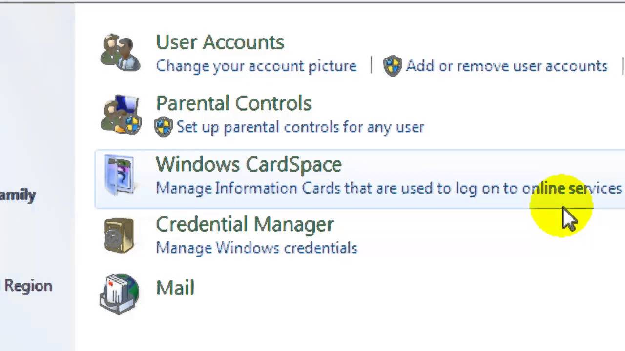 delete user account windows 7