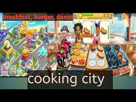 Cooking City | 3 Tempat | Breakfast Bar | Burger Shop| Sweet House |donat | 5 Combo