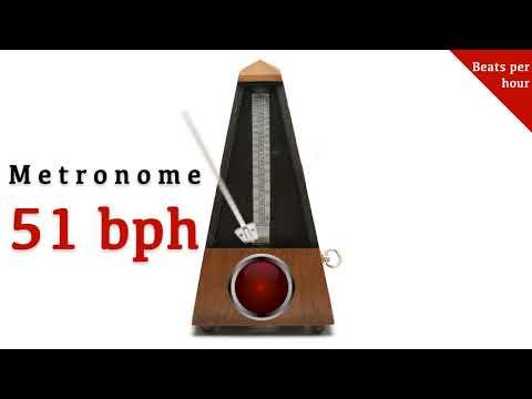 Metronome 51 bph 🎼 (beats per hour)