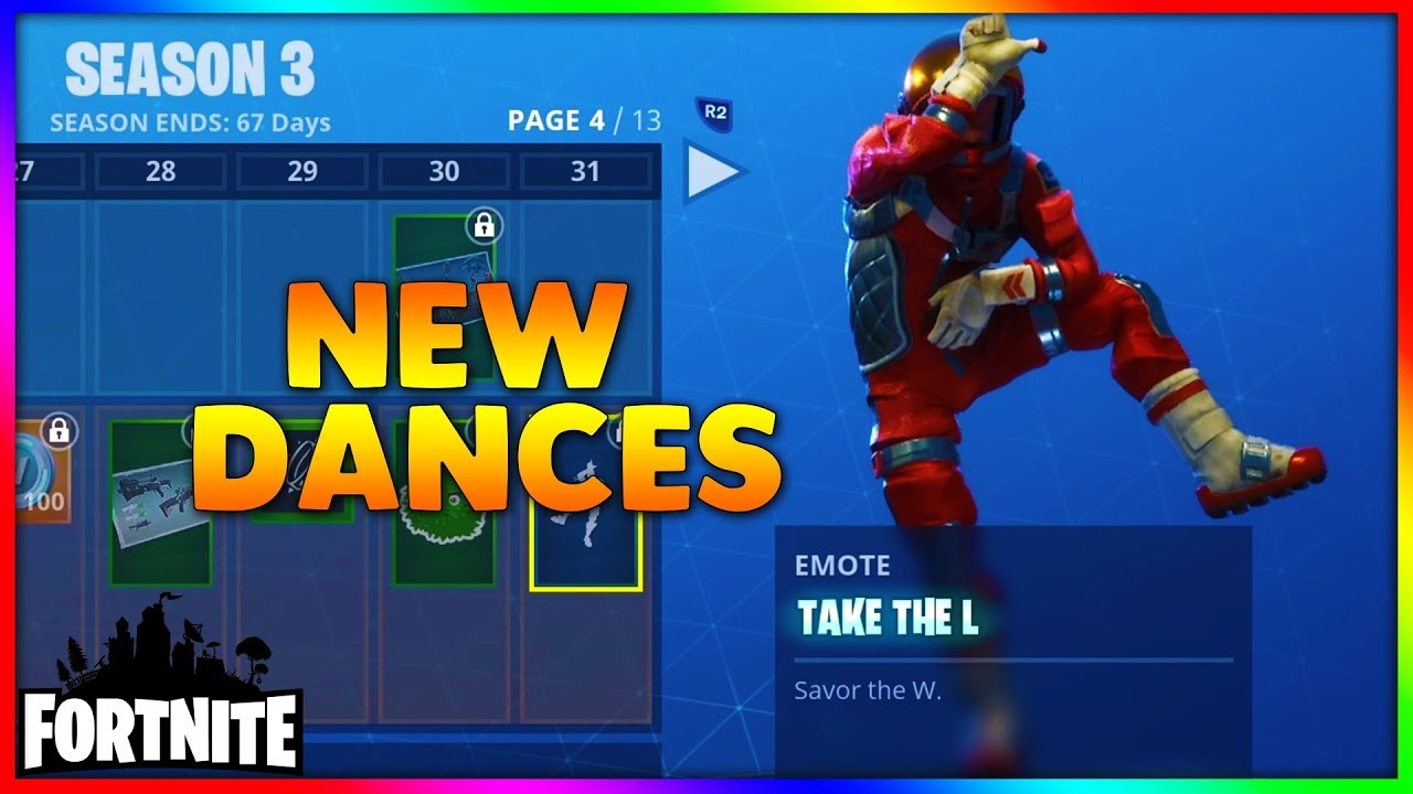 Fortnite New Dances Ft Take The L Best Mates The Robot