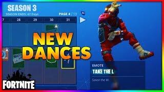 Fortnite *NEW* Dances ft: take the L, best mates, the robot