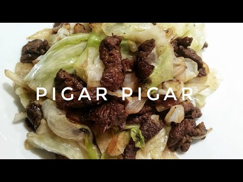 HOW TO COOK PIGAR-PIGAR (BEEF STIR FRY WITH CABBAGE) | Kat's Empire |