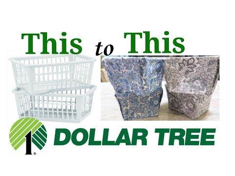 💚DIY DOLLAR TREE BASKET MAKEOVER💚