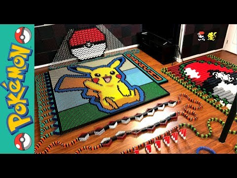 Pikachu 'Pokemon of the Month' (IN 22,177 DOMINOES!)