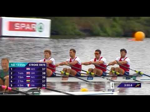 Mens Quadruple Sculls Heat 1 European Rowing Championship 2018