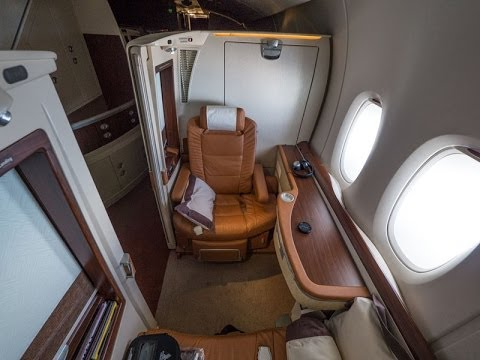 Singapore Airlines A380 First Class Suites