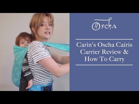 How To Back Carry with an Oscha Cairis Baby Carrier