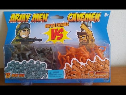 Weird & Funny Toys - Army Men vs Cavemen Battle Figures Playset Review