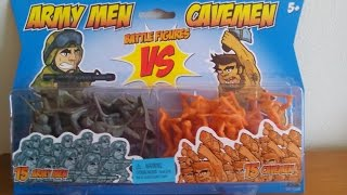 Weird & Funny Toys - Army Men vs Cavemen Battle Figures Playset Review