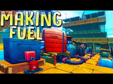I Found The Technology To Craft My Own Biofuel To Power My Giant Ship - Raft Chapter 1 Ending