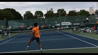 島袋将(早大) 対 三好健太(早大) 2017 全日本学生テニス選手権 決勝 第1セット thumbnail