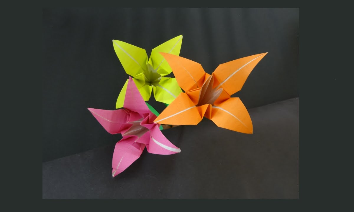 Papercraft Paper Made Flower | How to Make a Flower With Paper | Model-1