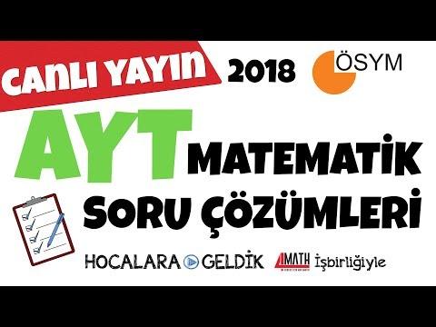 2018 AYT Matematik Soru Çözümleri
