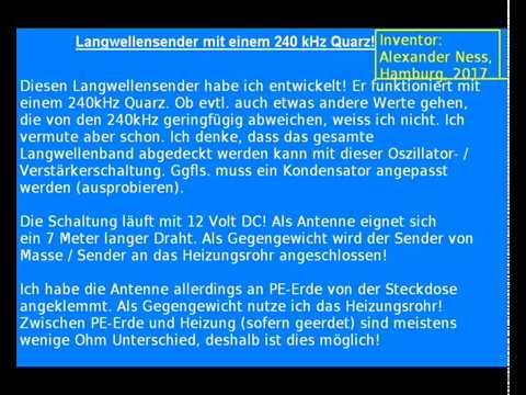 Langwellensender Schaltplan 240kHz Quarzsender - Home-Transmitter ...