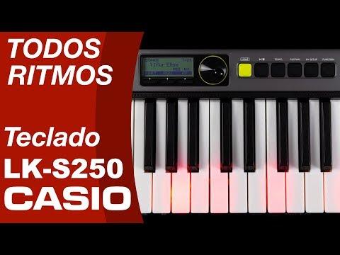 RITMOS TECLADO CASIOTONE LKS250 CASIO