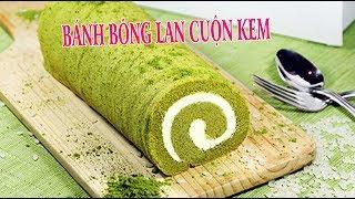 ✅Thử làm bánh bông lan trà xanh cuộn kem kết quả thật bất ngờ   Món Ngon Gia Đình