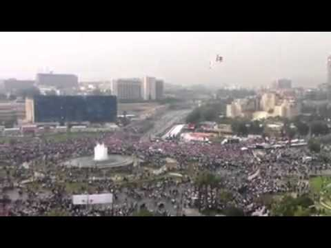 First minute of Syrians gathering in Umayyad Square  Oct-26-2011