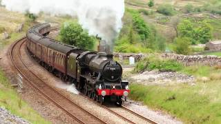 "LMS 45690 ""Leander"" Romps up to Aisgill on the CME. 18/5/19"